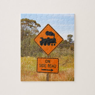 Train engine locomotive sign, Australia Jigsaw Puzzle