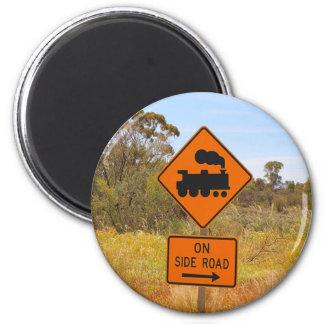 Train engine locomotive sign, Australia Magnet