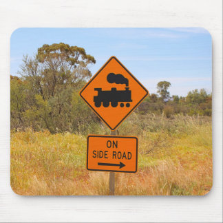Train engine locomotive sign, Australia Mouse Pad
