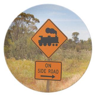 Train engine locomotive sign, Australia Plate