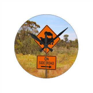 Train engine locomotive sign, Australia Round Clock