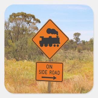 Train engine locomotive sign, Australia Square Sticker