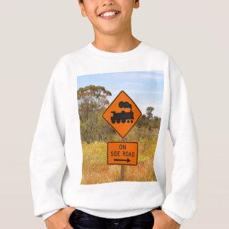 Train engine locomotive sign, Australia Sweatshirt