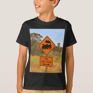 Train engine locomotive sign, Australia T-Shirt