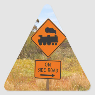 Train engine locomotive sign, Australia Triangle Sticker