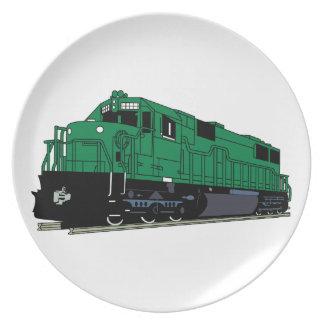 Train Engine Plate