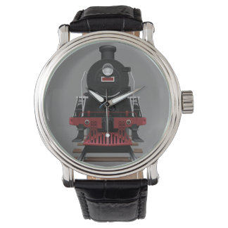 Train Engine Vintage Railroad Any Color Face Watch