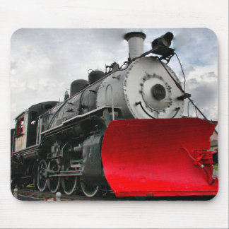 Train Engine with snowplow mousepad