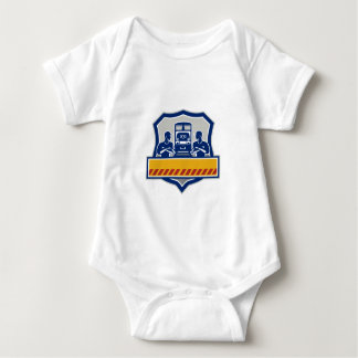 Train Engineers Arms Crossed Diesel Train Crest Re Baby Bodysuit