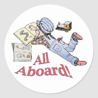 Train Fanatic Round Sticker