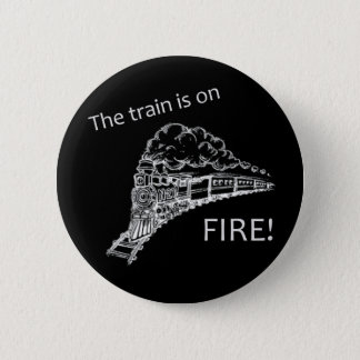 Train Fire 2 Inch Round Button