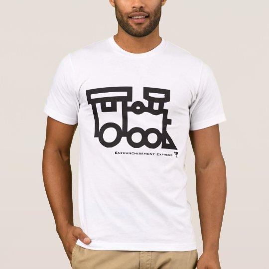 train, Glass, Enfranchisement Express - Customized T-Shirt