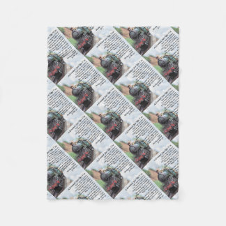 Train - Grandad Poem Fleece Blanket