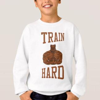 Train Hard bodybuilding Gym fitness Dumbbells Sweatshirt