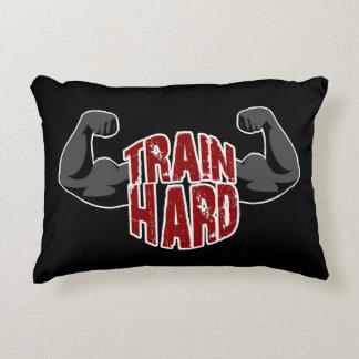 Train hard decorative pillow