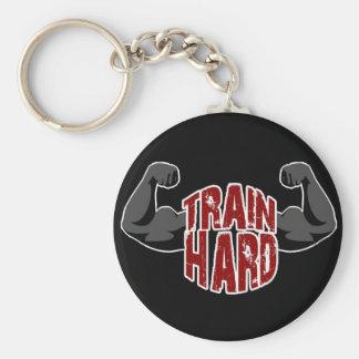 Train hard keychain