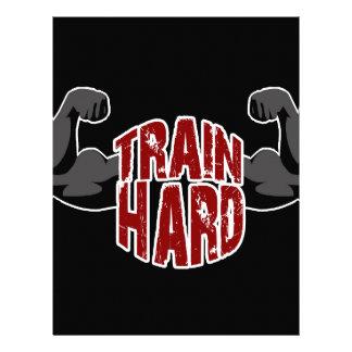 Train hard letterhead