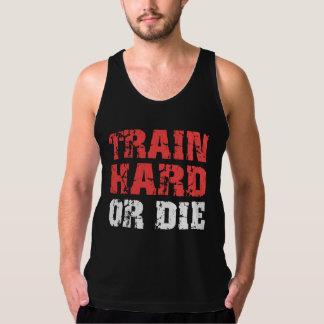 Train Hard Or Die (red) Tank Top