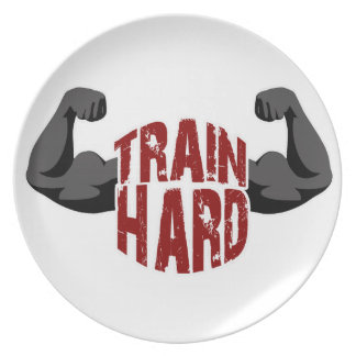 Train hard plate