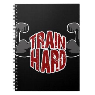 Train hard spiral notebook