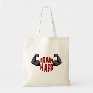 Train hard tote bag