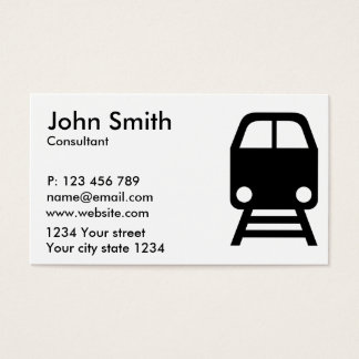 Train icon business card