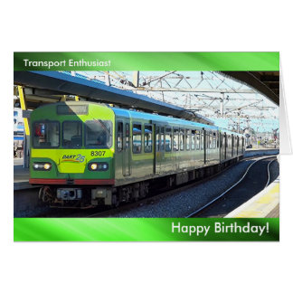 Train image for Birthday greeting card