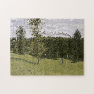 Train in the Countryside Monet Fine Art Jigsaw Puzzle