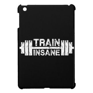 Train Insane - Barbell, Gym, Workout Inspirational iPad Mini Case