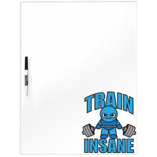 TRAIN INSANE Kawaii Weightlifter Deadlift Workout Dry Erase Board