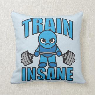 TRAIN INSANE Kawaii Weightlifter Deadlift Workout Throw Pillow
