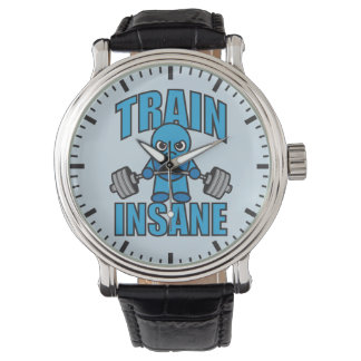 TRAIN INSANE Kawaii Weightlifter Deadlift Workout Wristwatch
