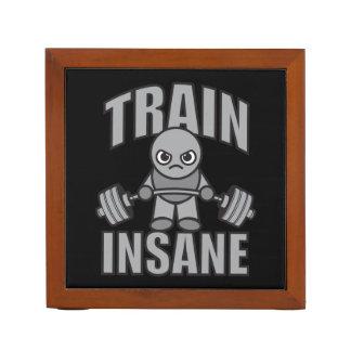 TRAIN INSANE - Workout Cartoon Anime Motivational Desk Organizer