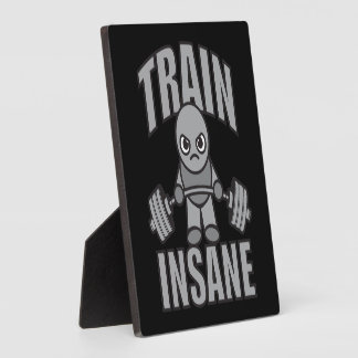 TRAIN INSANE - Workout Cartoon Anime Motivational Plaque