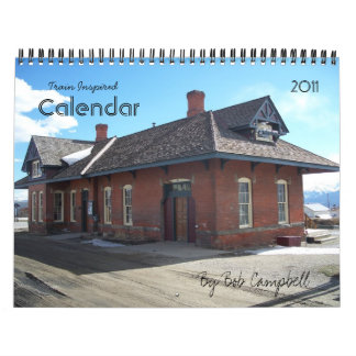 Train Inspired Wall Calendar