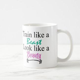 Train like a beast coffee mug