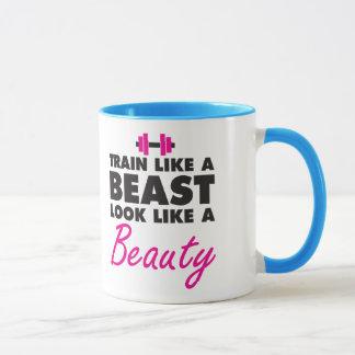 Train Like A Beast, Look Like A Beauty - Gym Mug
