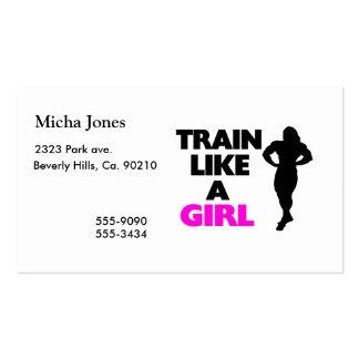Train Like A Girl Business Card