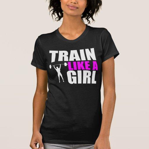 Train Like a Girl - Ladies Elite Fit Tshirt