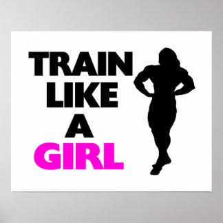 Train Like A Girl Poster