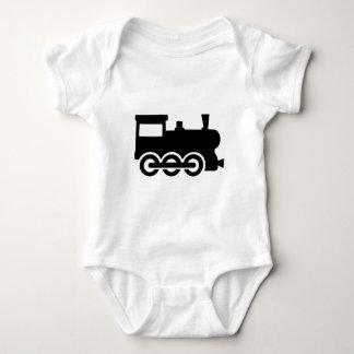 Train locomotive baby bodysuit