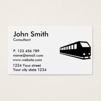 Train locomotive business card