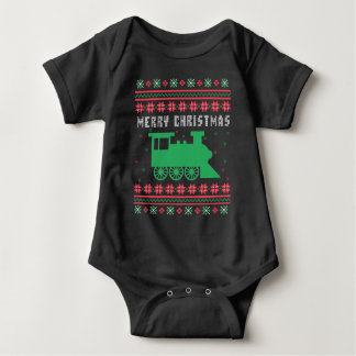 Train Locomotive Ugly Christmas Sweater