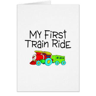 Train My First Train Ride Greeting Card