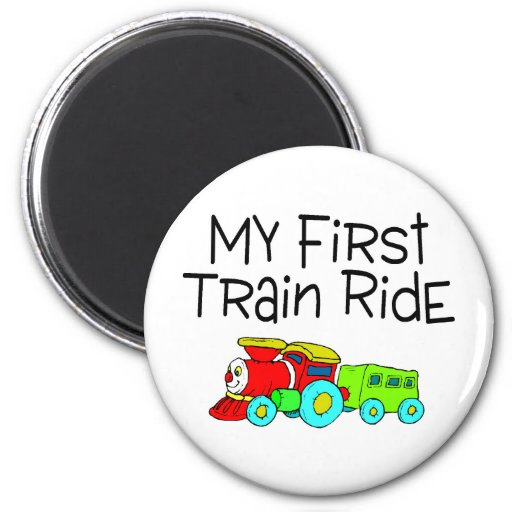 Train My First Train Ride Refrigerator Magnets