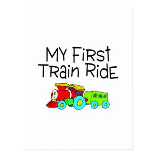 Train My First Train Ride Postcard