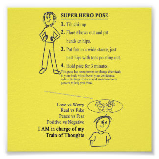 Train of Thought - Super Hero Pose Reminders Poster