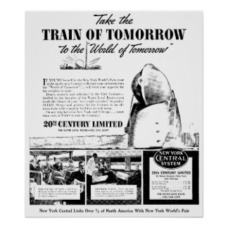 Train Of Tomorrow - New York Central Railroad Poster