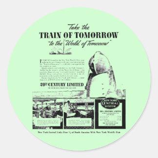 Train Of Tomorrow - New York Central Railroad Round Sticker