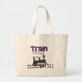 Train on Track Large Tote Bag